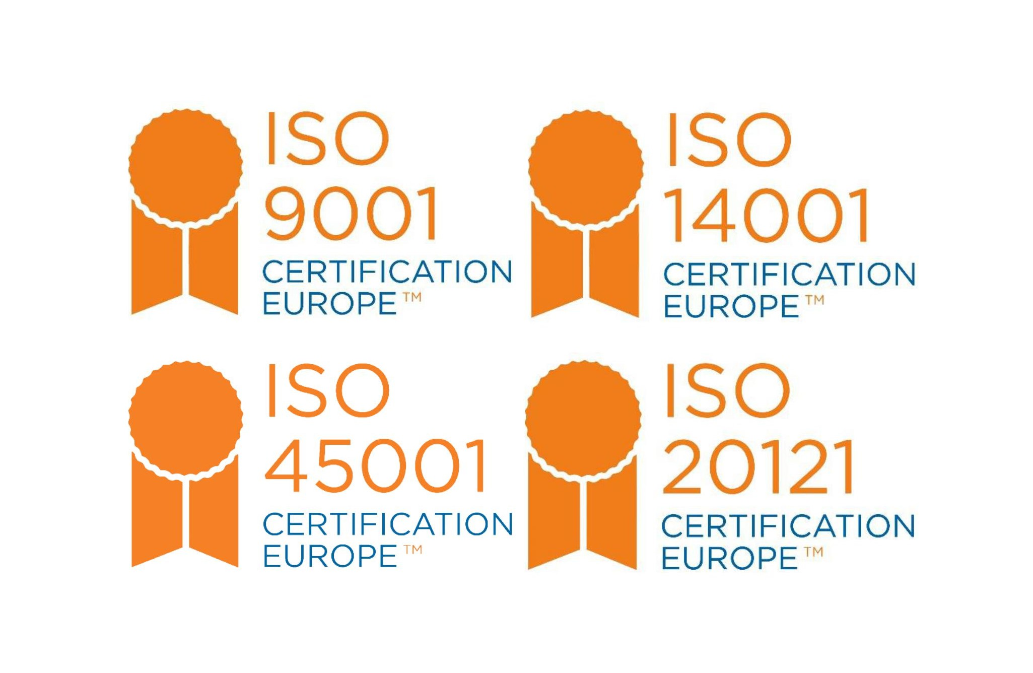 ISO Certification Europe 9001, 14001, 18001, 20121
